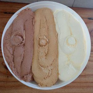 Balde – Chocolate, Dulce de leche y Vainilla